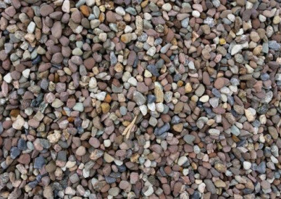 #1a Red Gravel. Beautiful Round Gravel with very nice color. Best Bang for your Buck!