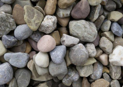 #3 Freedom Grey Gravel. Perfect stone for your landscaping needs!